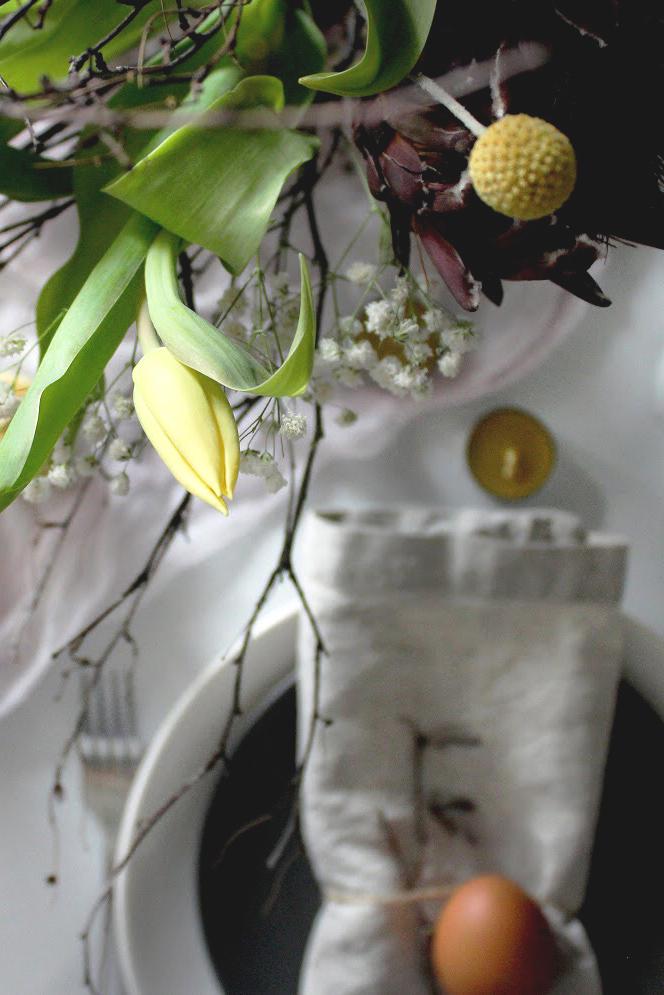 красивая сервировка пасхального стола своими руками